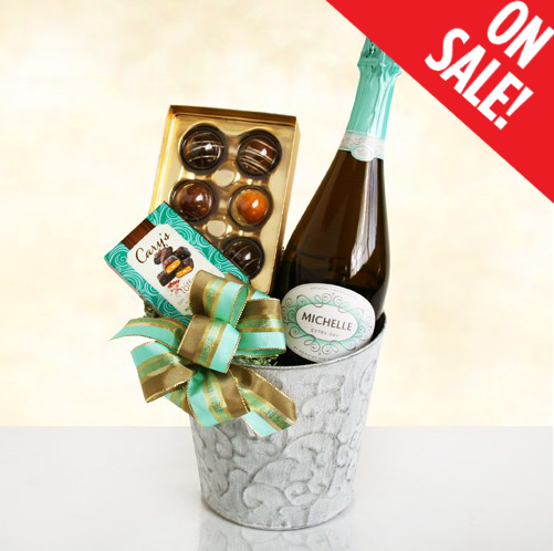 Chocolate Covered Strawberries And Wine Gift Basket
