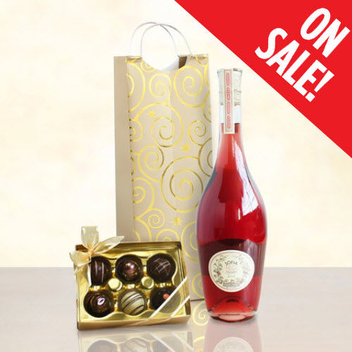 Rose Wine Gift Sweet Sofia Rose Wine and Chocolate Truffles Gift 010. Price $39.95  sc 1 st  Wine Gift Gallery & Moscato Gift Basket   Moscato Wine Gift Baskets   Moscato Gift Sets